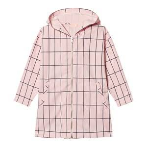 Tinycottons Unisex Jumpers and knitwear Pink Big Grid Oversized Jacket Pale Pink/Dark Navy