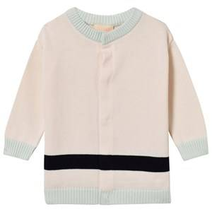 Tinycottons Girls Jumpers and knitwear Pink Knit Line Cardigan Pale Pink
