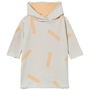 Tinycottons Unisex Jumpers and knitwear Blue Knit Sticks Poncho Light Blue/Nude