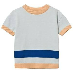 Tinycottons Unisex Jumpers and knitwear Blue Line Ss Sweater Knit Light Blue