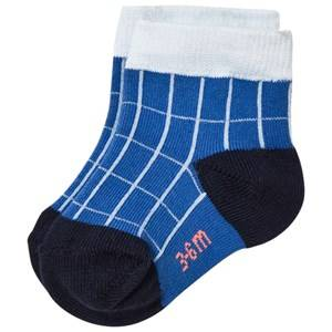 Tinycottons Unisex Underwear Blue Grid Socks Blue/Light Blue