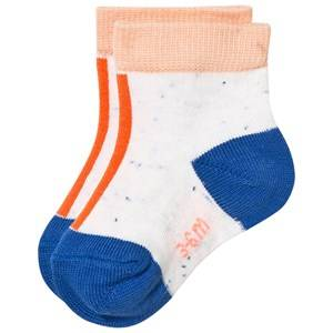 Tinycottons Unisex Underwear White Line Melange Socks Off White/Red