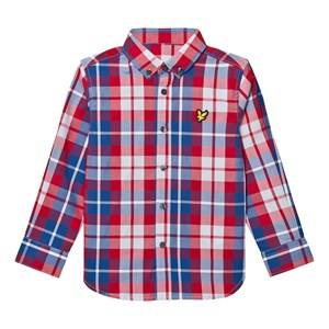 Scott Lyle & Scott Boys Tops Red Royal Red Check Shirt