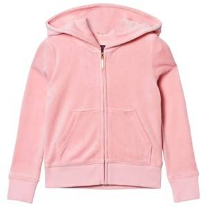 Juicy Couture Girls Jumpers and knitwear Pink Pale Peach Jewelled Glitter Velour Hoody