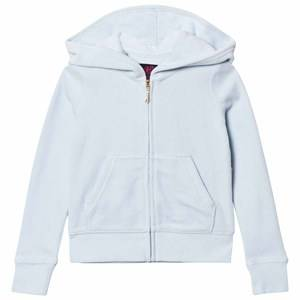 Juicy Couture Girls Jumpers and knitwear Blue Ice Blue Jewelled Glitter Velour Hoody