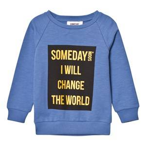 Someday Soon Boys Jumpers and knitwear Blue Ivan Crewneck Sweater Blue