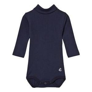 Petit Bateau Unisex All in ones Navy Long Sleeved Body Navy