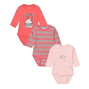 Me Too Girls All in ones Pink Kani 223 3-Pack Baby Body Crystal Rose