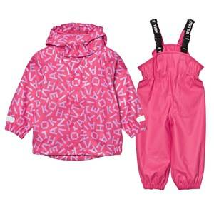 Ticket to heaven Girls Clothing sets Pink Rubber Rain Set Magenta Pink