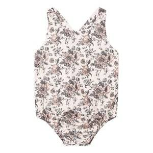 The Little Tailor Girls All in ones Cream Cream Floral Body