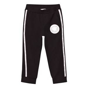 Young Versace Boys Bottoms Black Black Sweat Pants with Branded Trim