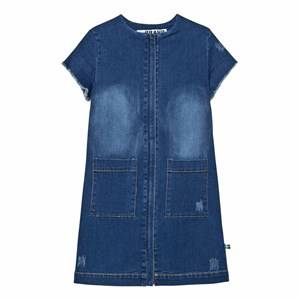 The BRAND Girls Private Label Dresses Blue Denim Dress Stonewashed Blue