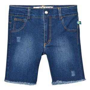 The BRAND Unisex Shorts Blue Raw Shorts Stonewashed Blue