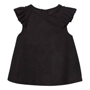 The BRAND Girls Tops Black Suede Top Black