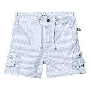 The BRAND Unisex Shorts Blue Khaki Shorts Thin Blue Stripe Classic