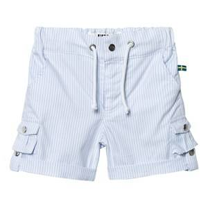 The BRAND Unisex Private Label Shorts Blue Khaki Shorts Thin Blue Stripe Classic
