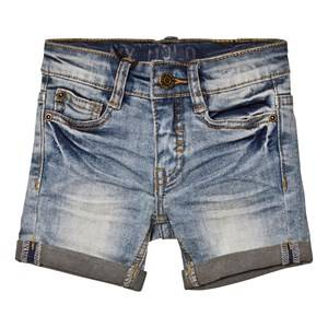Molo Unisex Shorts Blue Aslak Shorts Worn Denim