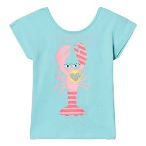 Billieblush Girls Tops Blue Turquoise Lobster Print Tee
