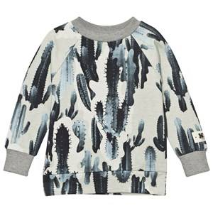 Molo Boys Jumpers and knitwear Beige Manuel Sweatshirt Camo Cactus