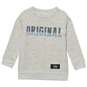 Molo Boys Jumpers and knitwear Grey Marnix Sweatshirt Snow Melange