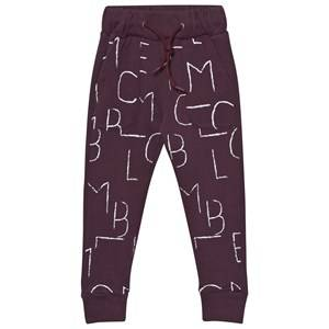 Wolf & Rita Unisex Bottoms Purple Rafael Bordeaux Sweatpants