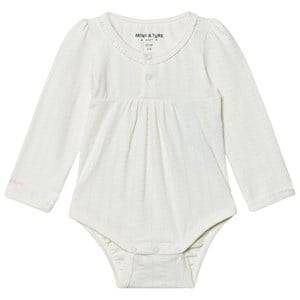 Mini A Ture Girls All in ones Cream Elinore Baby Body Antique White