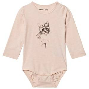 Mini A Ture Girls All in ones Pink Alara Baby Body Pale Dogwood Rose