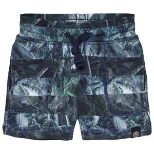 Molo Boys Shorts Blue Ajaz Shorts Camo Palm Stripes