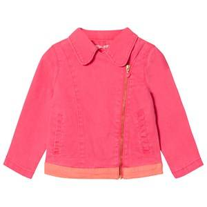 Billieblush Girls Coats and jackets Pink Hot Pink Twill Biker Jacket