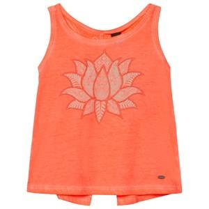 Oneill Boys Tops Orange Fluoroescent Peach Cooler Graphic Tank Top