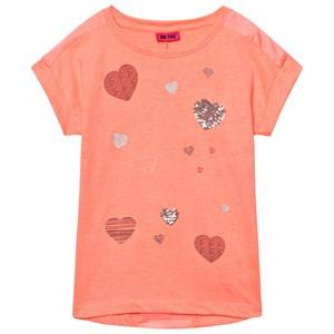 Me Too Girls Tops Orange Kitt Tunic Bright Coral