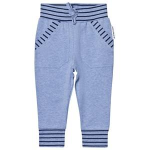 Geggamoja Boys Jumpers and knitwear Blue College Pant Blue Melange