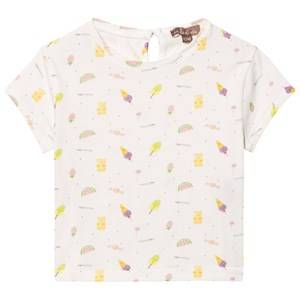 Emile et Ida Girls Tops White Tee Shirt Sucre Bonbons