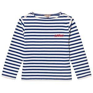 Emile et Ida Boys Jumpers and knitwear White Stiped Sweater Rayure