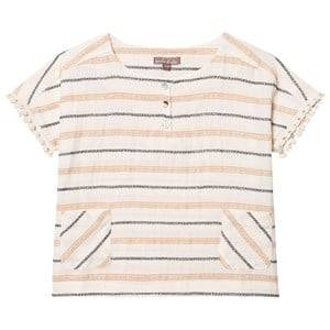 Emile et Ida Girls Tops White Striped Blouse Raye