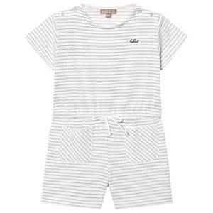 Emile et Ida Girls All in ones White Playsuit Rayure