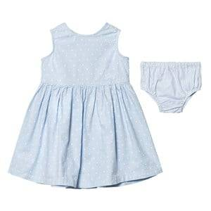 Gant Girls Dresses Blue Pale Blue Spot Dress with Knickers
