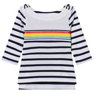 Lands End Girls Tops White White Boatneck Sailor Top