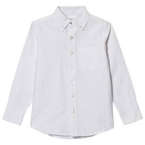 Lands End Boys Tops White White Washed Oxford Shirt