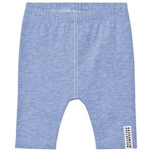 Geggamoja Girls Bottoms Blue Tights Blue Melange