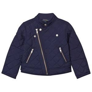 Ralph Lauren Girls Coats and jackets Navy Navy Quilted Moto Biker Jacket