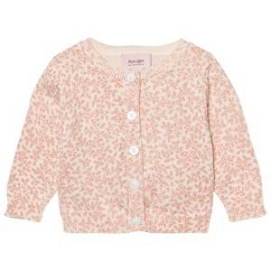 Noa Noa Miniature Girls Jumpers and knitwear Pink Cardigan Floral Print Evening Sand