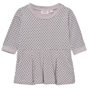 Noa Noa Miniature Girls Dresses Purple Dress Printed Gull Gray