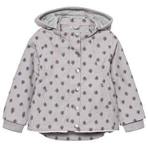 Noa Noa Miniature Girls Coats and jackets Purple Printed Spring Jacket Gull Grey