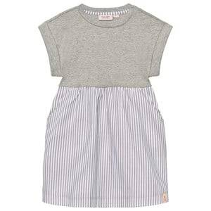 Noa Noa Miniature Girls Tops Grey Dress Striped Brushed Grey Melange