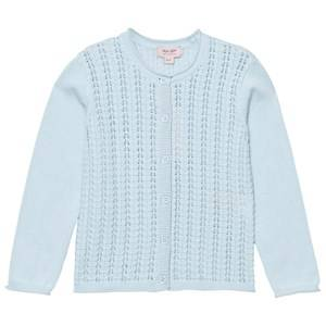 Noa Noa Miniature Girls Jumpers and knitwear Blue Mini Basic Cotton Cardigan Baby Blue Melange