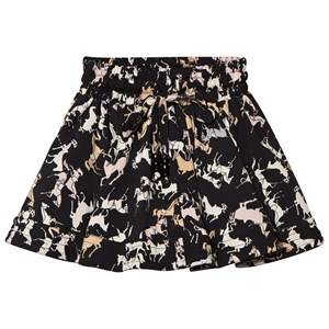 Kiss How To Kiss A Frog Girls Skirts Black Wind Skirt Black Horse