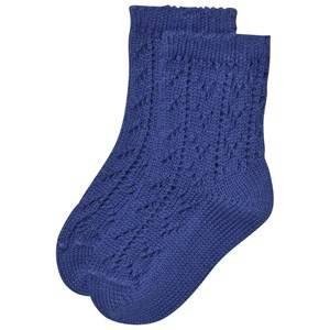 Bobo Choses Unisex Underwear Blue Baby Short Jacquard Socks Mazarine Blue