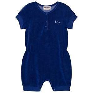 Bobo Choses Girls All in ones Blue B.C. TEAM Terry Romper Mazarine Blue