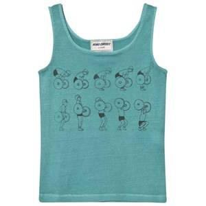 Bobo Choses Boys Tops Blue Weightlifting Tank Top Turquoise Blue